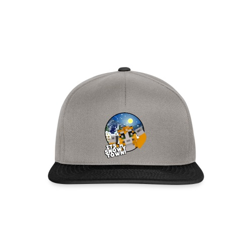 It's A Snowy Town - Teenagers's T-shirt  - Snapback Cap