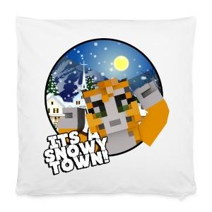 It's A Snowy Town - Teenagers's T-shirt  - Pillowcase 40 x 40 cm