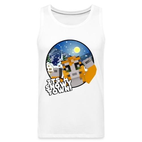 It's A Snowy Town - Teenagers's T-shirt  - Men's Premium Tank Top