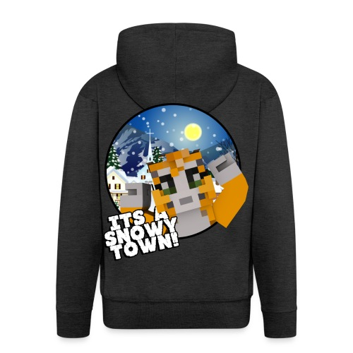 It's A Snowy Town - Teenagers's T-shirt  - Men's Premium Hooded Jacket