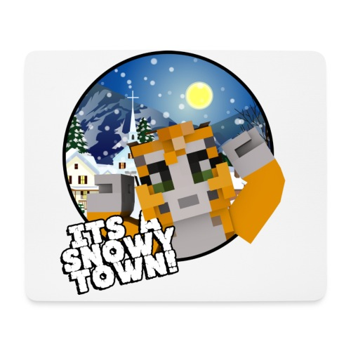 It's A Snowy Town - Teenagers's T-shirt  - Mouse Pad (horizontal)