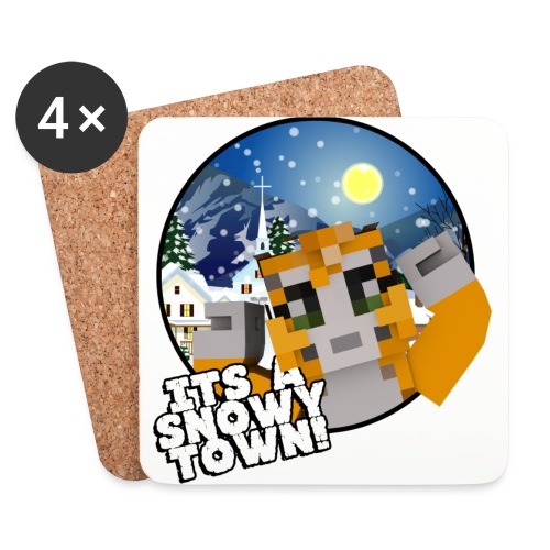 It's A Snowy Town - Teenagers's T-shirt  - Coasters (set of 4)
