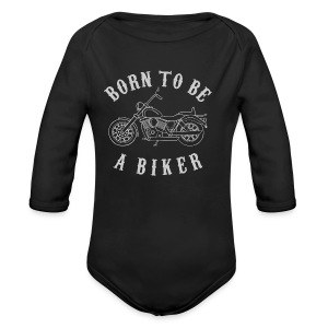 Born To Be A Biker   Body 1 - Baby Bio-Langarm-Body