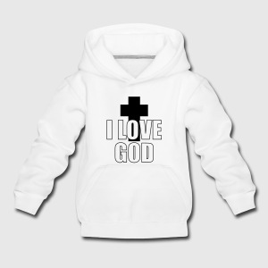I Love God Sweats - Pull à capuche Premium Enfant