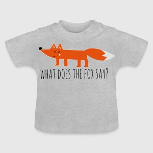 Funny what does the fox say ring ding meme song Shirts - Baby T-Shirt