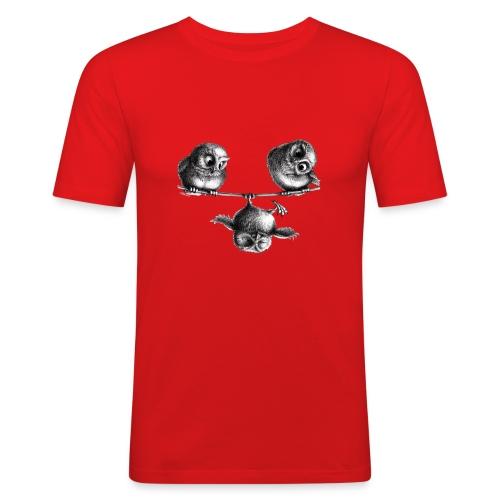 Eulen - Freiheit und Spaß - Männer Slim Fit T-Shirt