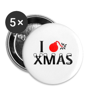 I Hate Xmas - Buttons groß 56 mm