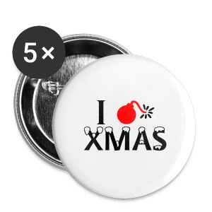 I Hate Xmas - Buttons mittel 32 mm