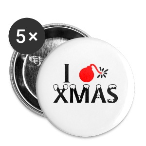 I Hate Xmas - Buttons klein 25 mm