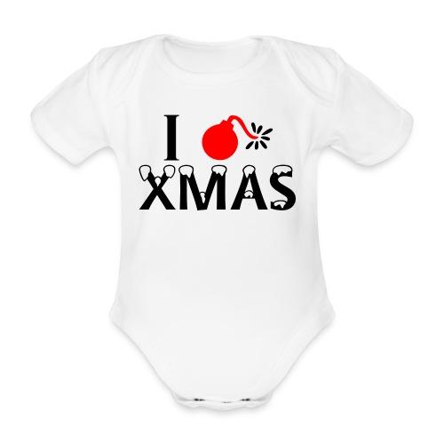 I Hate Xmas - Baby Bio-Kurzarm-Body