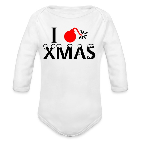 I Hate Xmas - Baby Bio-Langarm-Body