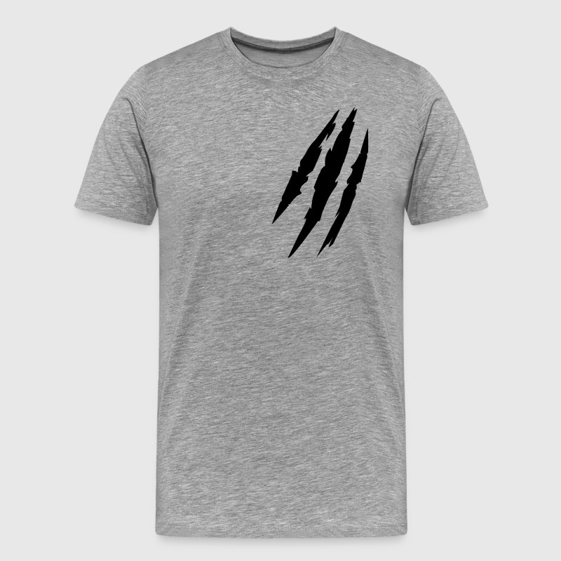 Beast animal scratches claw marks blood scars T-Shirts - Men's Premium T-Shirt