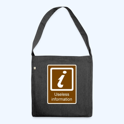 Useless Information - Shoulder Bag made from recycled material
