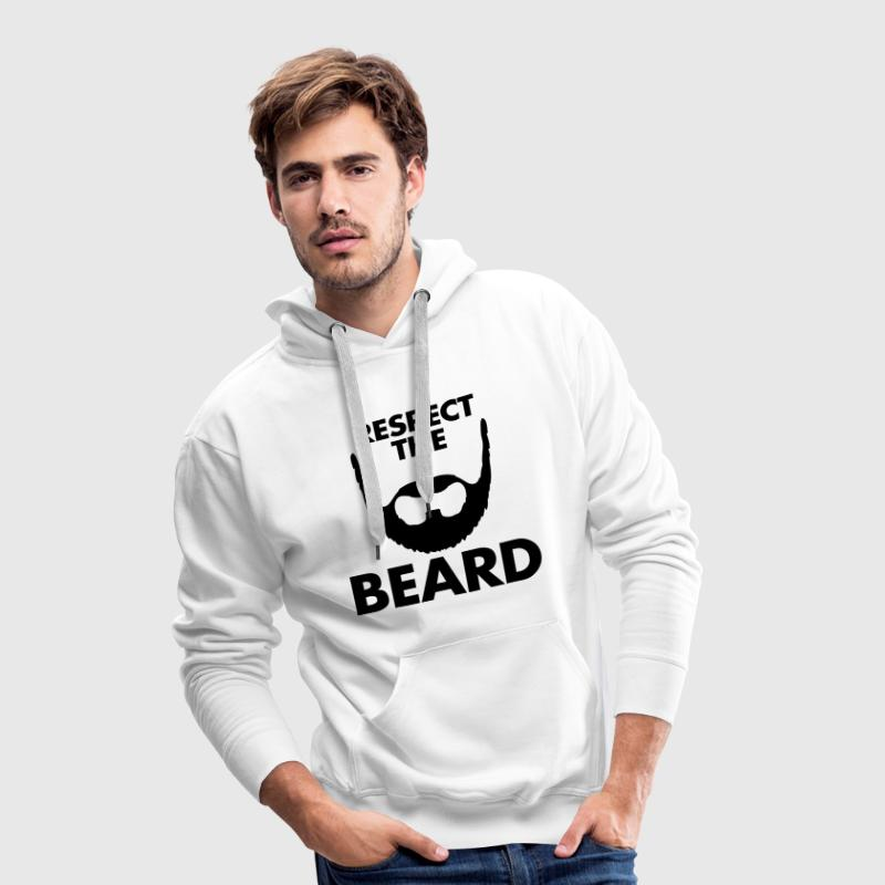 Respect The Beard Sweaters - Mannen Premium hoodie