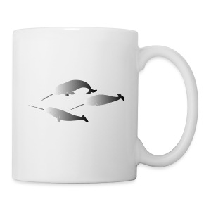 tier t-shirt narwal walwale wal wale meer whale scuba diving - Tasse