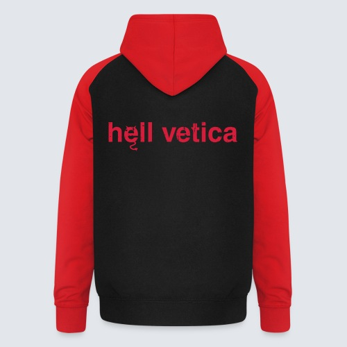 hell vetica - Unisex Baseball Hoodie