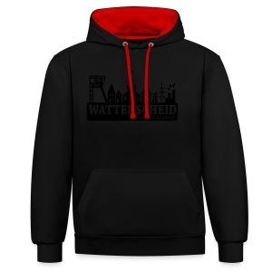 Skyline Wattenscheid mit RPC Logo auf Rücken - Kontrast-Hoodie