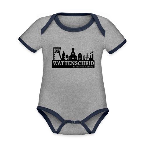 Skyline Wattenscheid mit RPC Logo auf Rücken - Baby Bio-Kurzarm-Kontrastbody