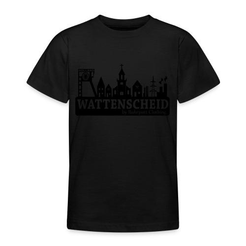 Skyline Wattenscheid mit RPC Logo auf Rücken - Teenager T-Shirt