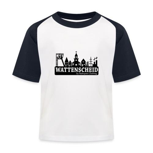 Skyline Wattenscheid mit RPC Logo auf Rücken - Kinder Baseball T-Shirt