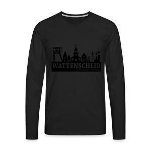 Skyline Wattenscheid mit RPC Logo auf Rücken - Männer Premium Langarmshirt