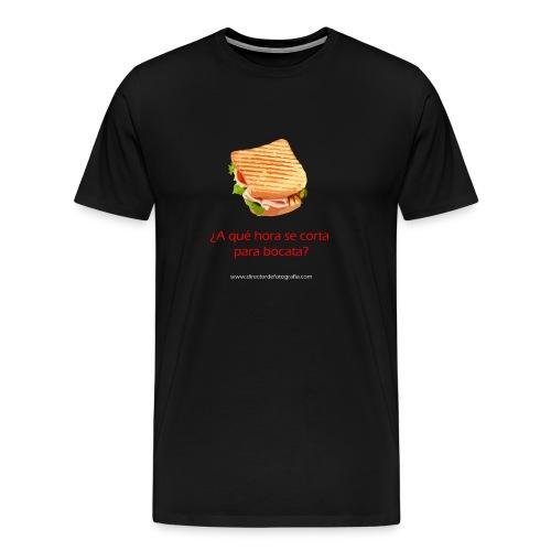 Camiseta premium hombre - Porque esto de rodar, da hambre