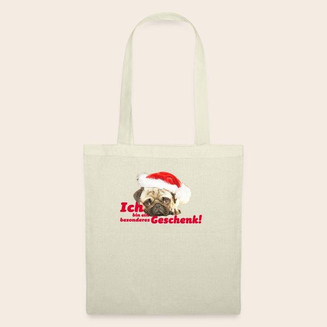 Mops Geschenk Stofftasche