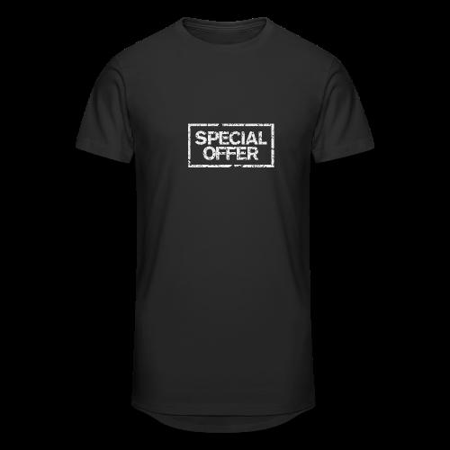 Special Offer T-Shirt (Herren Schwarz Weiß) - Männer Urban Longshirt