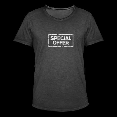 Special Offer T-Shirt (Herren Schwarz Weiß) - Männer Vintage T-Shirt