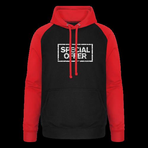 Special Offer T-Shirt (Herren Schwarz Weiß) - Unisex Baseball Hoodie