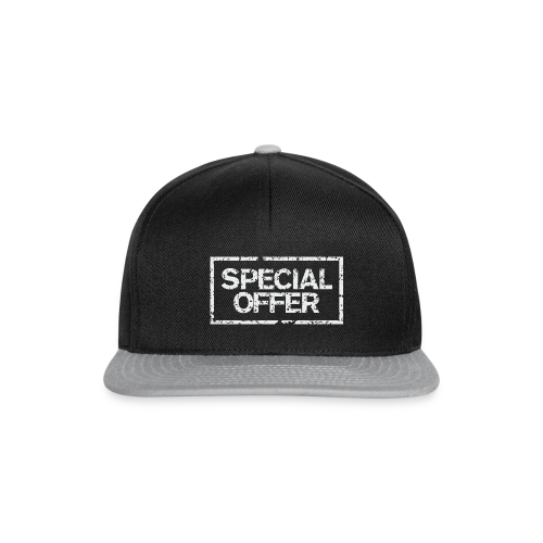 Special Offer T-Shirt (Herren Schwarz Weiß) - Snapback Cap