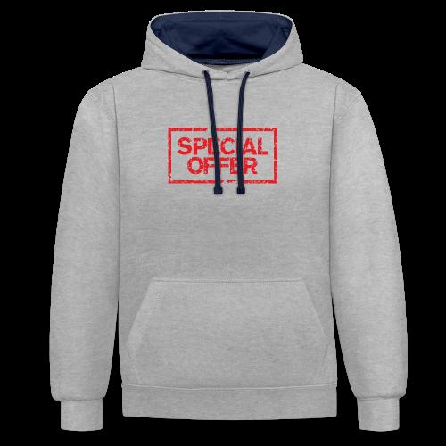 Special Offer T-Shirt (Herren Weiß Rot) - Kontrast-Hoodie