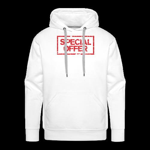 Special Offer T-Shirt (Herren Weiß Rot) - Männer Premium Hoodie