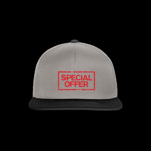 Special Offer T-Shirt (Herren Weiß Rot) - Snapback Cap