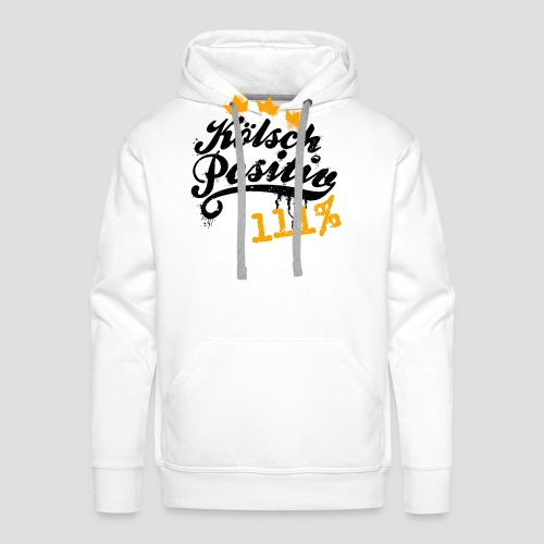 KölschPositiv 111% Graffiti-Logo - Männer Premium Hoodie