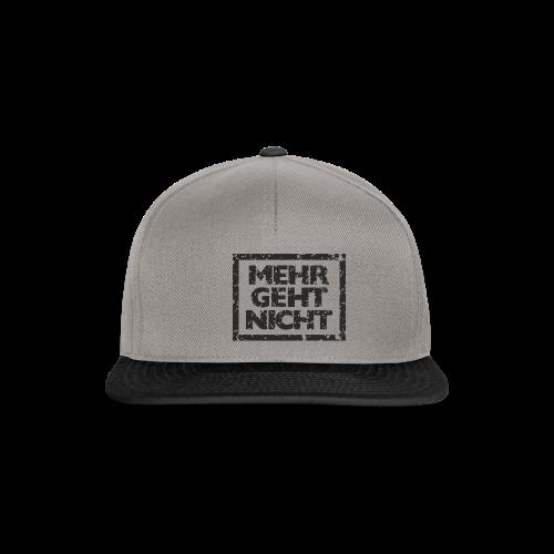 Mehr geht nicht T-Shirt (Damen Weiß Schwarz) - Snapback Cap