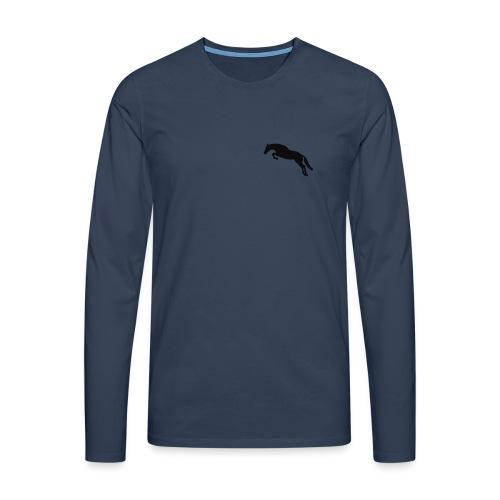 Kaputzenjacke - Männer Premium Langarmshirt