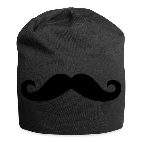 Moustache Beanie Mütze Mustache Schnurrbart - Jersey-Beanie