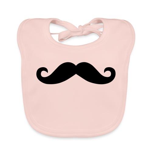 Moustache Beanie Mütze Mustache Schnurrbart - Baby Bio-Lätzchen