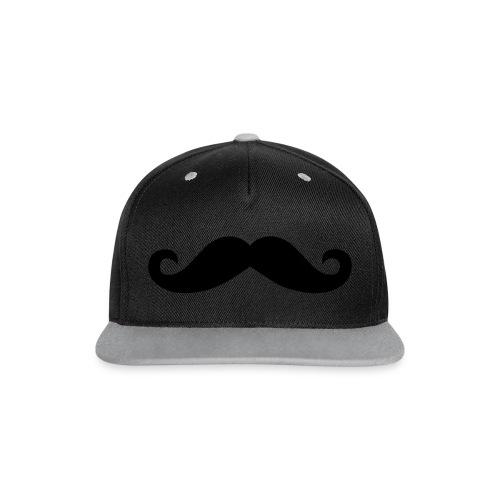 Moustache Beanie Mütze Mustache Schnurrbart - Kontrast Snapback Cap