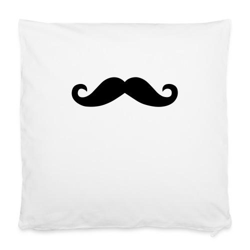 Moustache Beanie Mütze Mustache Schnurrbart - Kissenbezug 40 x 40 cm