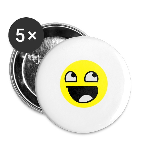 Awesome Smiley Mütze Beanie - Buttons groß 56 mm
