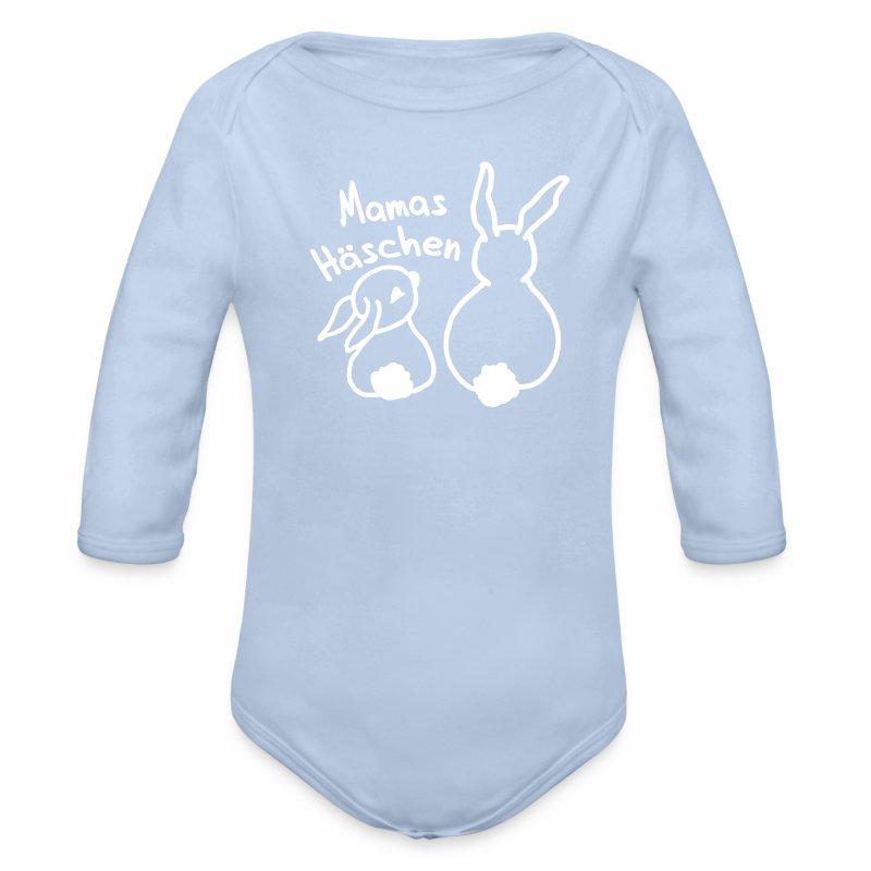 Hase, Mama, Geburt, Weihnachten, Geschenk, Winter - Baby Bio-Langarm-Body