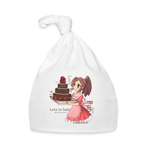 Apron: Manga girl with cake - Baby Cap