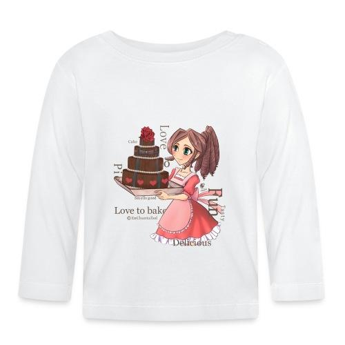 Apron: Manga girl with cake - Baby Long Sleeve T-Shirt