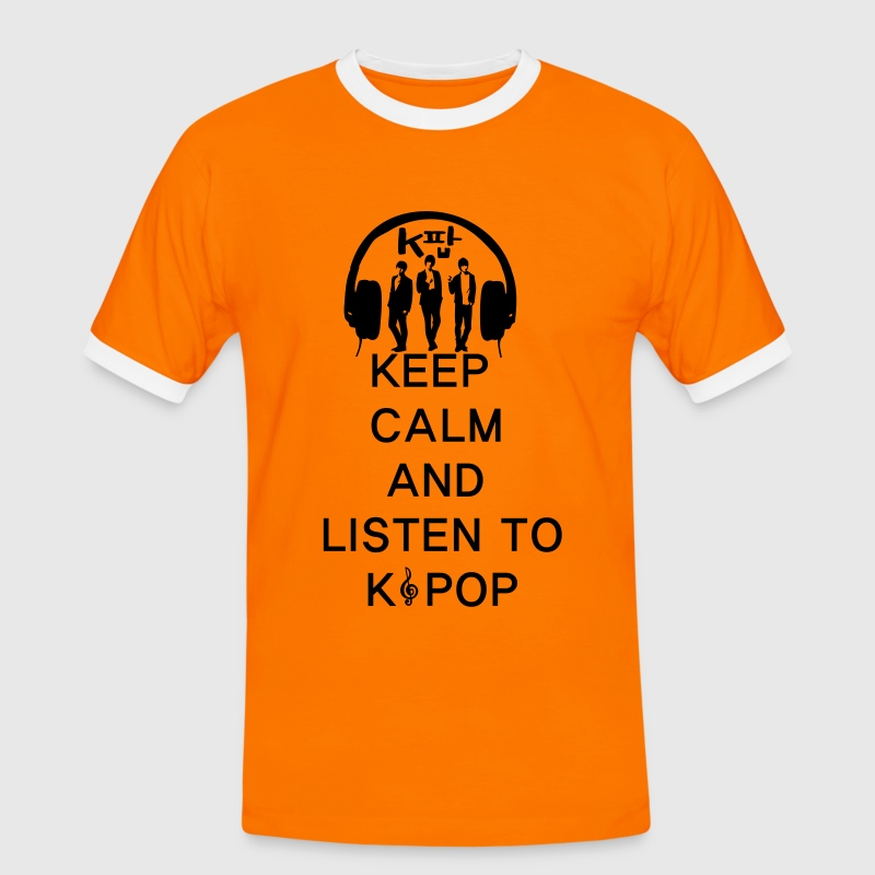 keep calm and listen to kpop Men's Ringer T-shirt - Men's Ringer Shirt