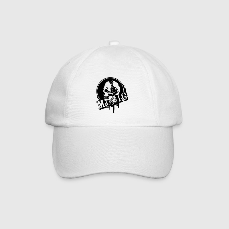 A skull with headphone in profile Caps & Hats - Baseball Cap