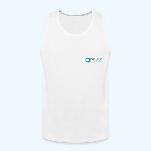 PaulsQuiz.com Polo Shirt - Men's Premium Tank Top
