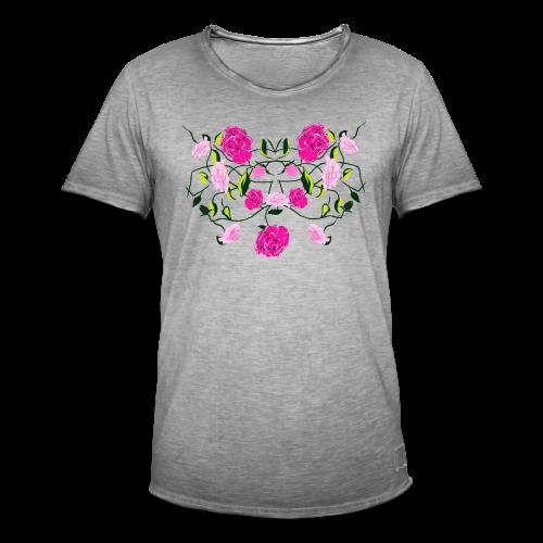 Langarmshirt für Frauen mit Rosen - Männer Vintage T-Shirt