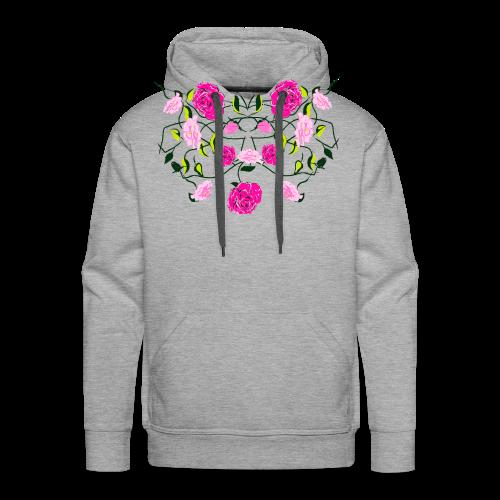 Langarmshirt für Frauen mit Rosen - Männer Premium Hoodie